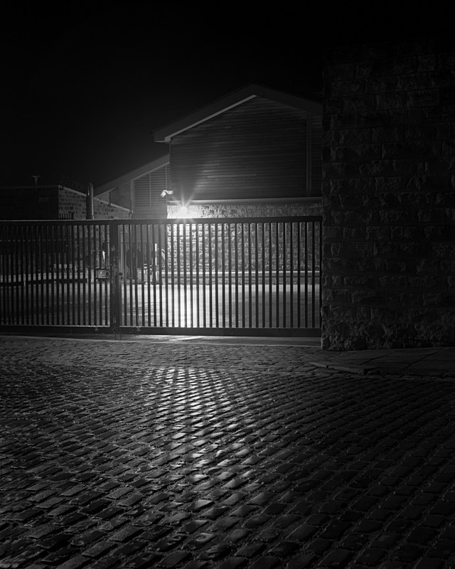 Cobbles on Station Road Otley - Otley and Ilkley at Night
