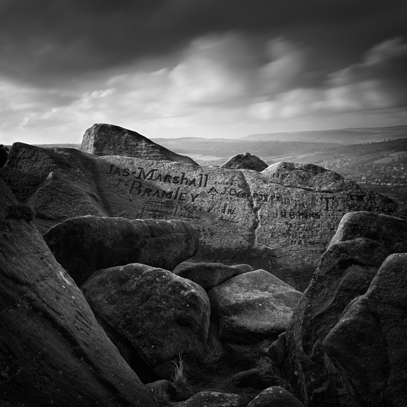 Old Rocks of Ilkley Moor #1 (square format) - Landscapes