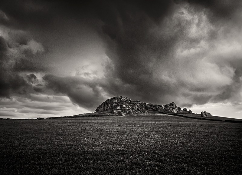 Armscliffe Cragg black and white photograph