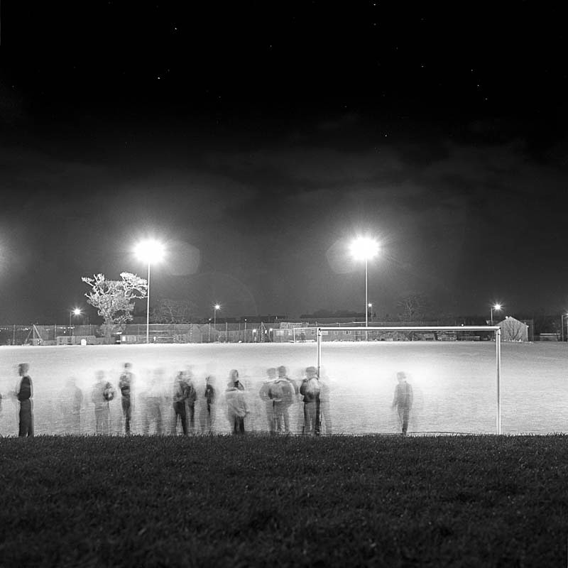 Game off, Horsforth School (square format) - Night Exposures