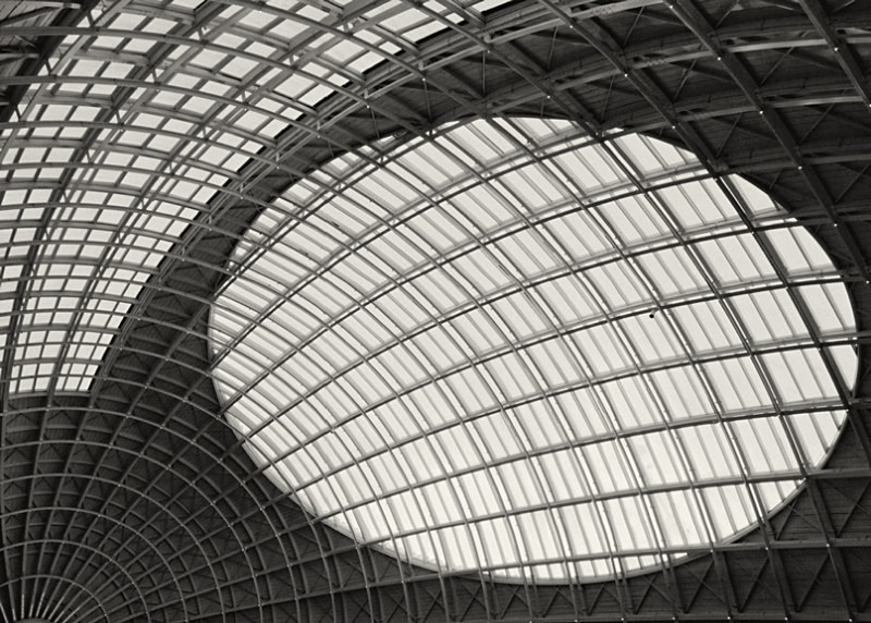 Black and White Photograph Roof Abstract Corn Exchange Leeds - Abstract & Still Life