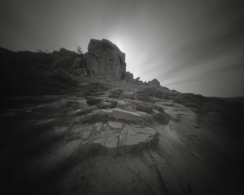 The Cow Rock Ilkley Moor (4x5 Pinhole) - Ilkley and the Moor