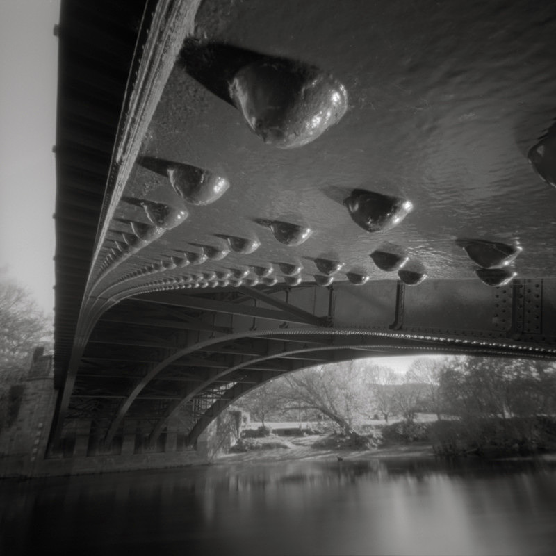 Ilkley Iron Bridge Study #3, Pinhole, (square format) - Bridges & Tunnels