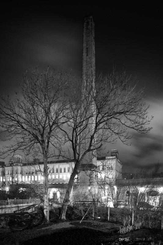 Salts Mill Chimney - Night Exposures