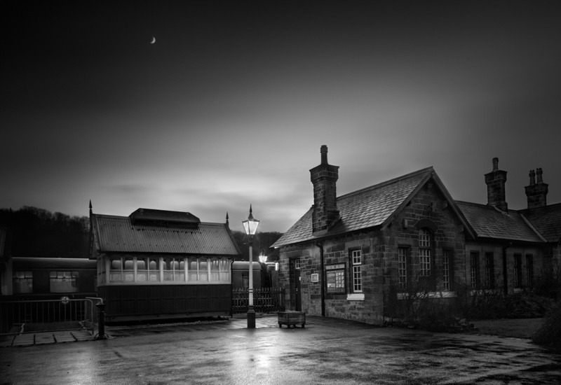 Embsay Station - Night Exposures