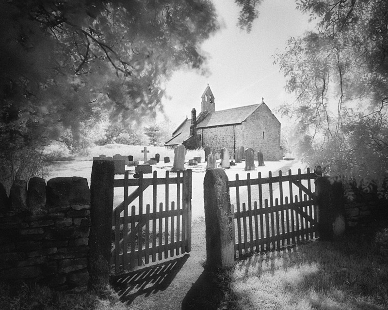 St Marys Church Stainburn infrared (square format) - Infrared