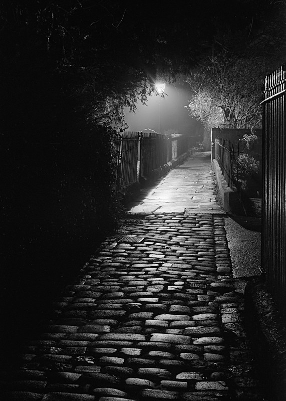 Cobble Path at Side of All Saints Church Otley #2 - Otley and Ilkley at Night