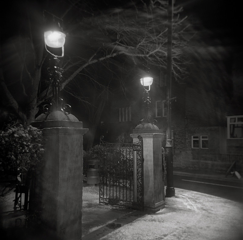 Black and White Photograph of the Entrance to War Memorial Gardens Ilkley