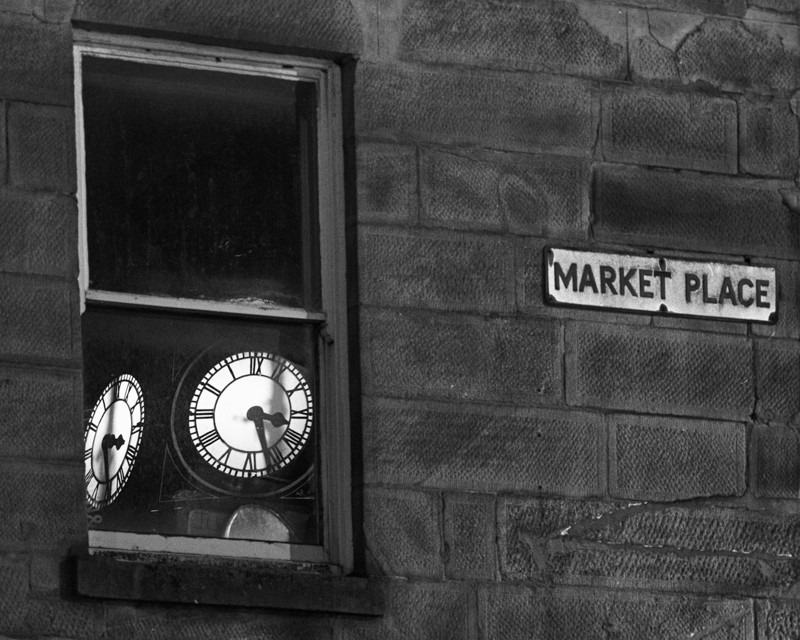 Otley Clock Reflection - Otley and Ilkley at Night