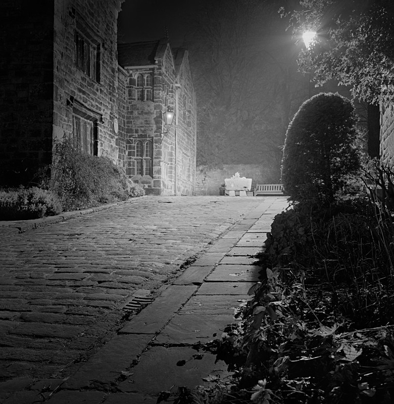Approach to Manor House, Ilkley (square format) - Otley and Ilkley at Night