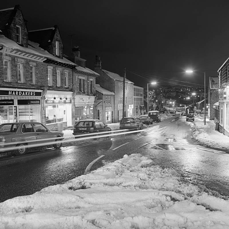 Station Road Horsforth (square format) - Night Exposures