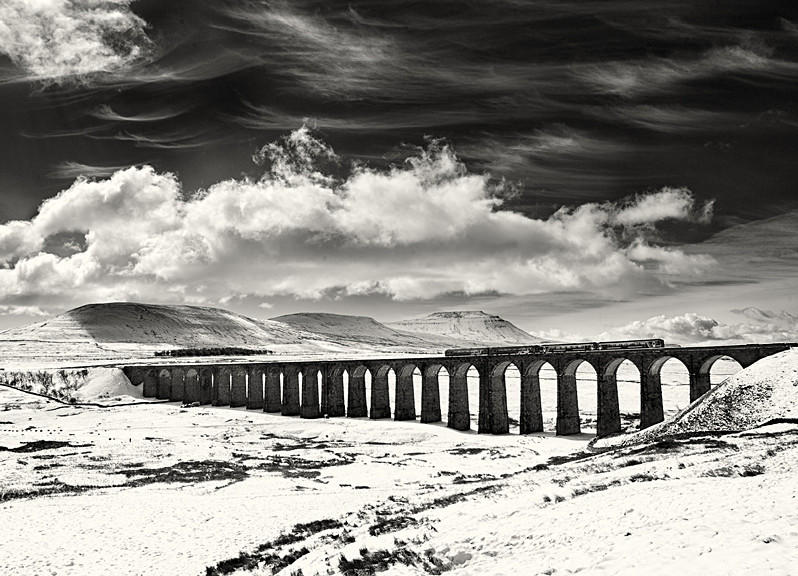Winter scene of the Ribblehead Viaduct