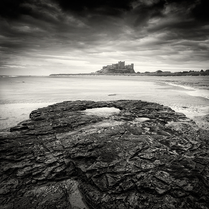 Bamburgh Castle (square format) - Water