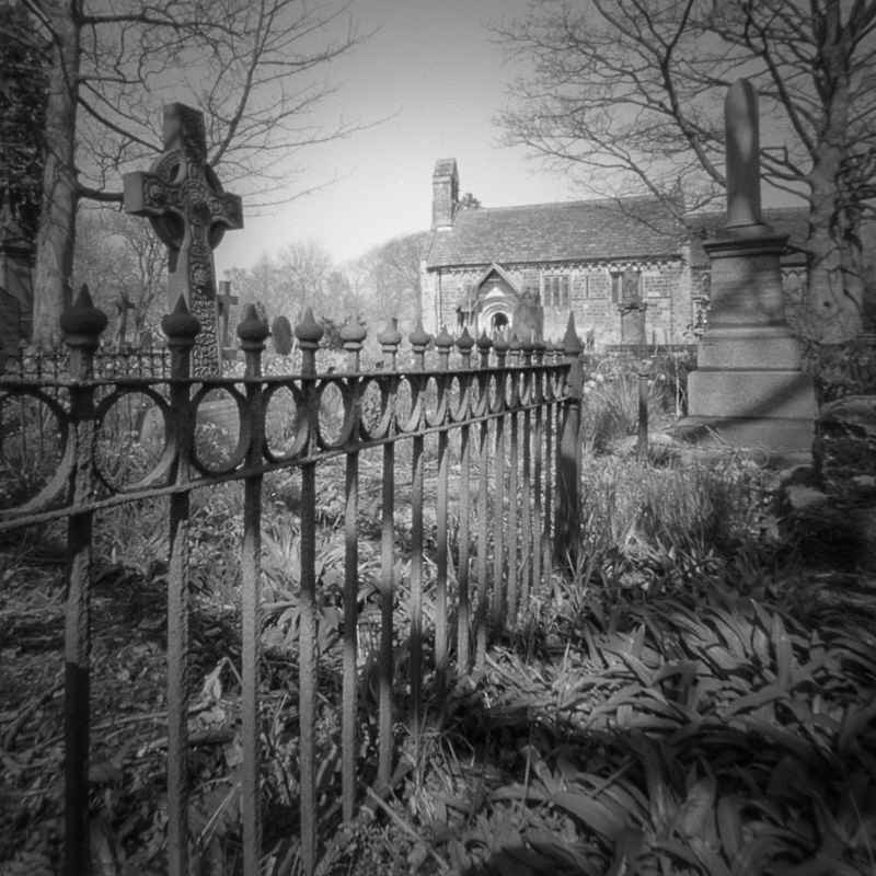 Adel Church and Railings (square format) - Churches & Architecture