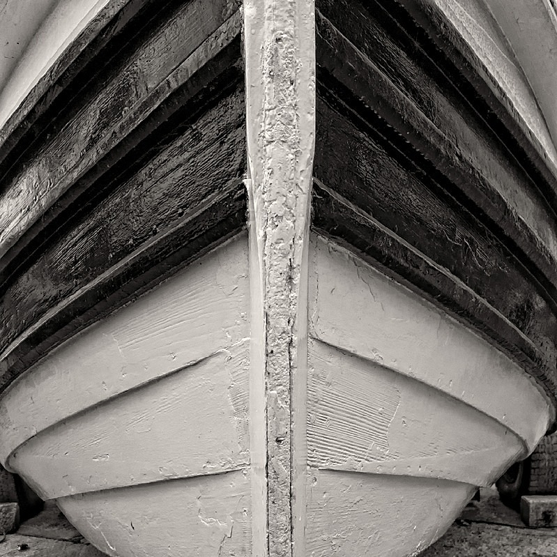 Boat Abstract Filey in Black and White - Abstract & Still Life