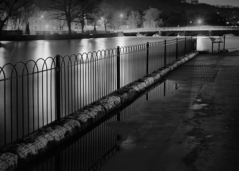River Wharfe Otley #3 - Otley and Ilkley at Night