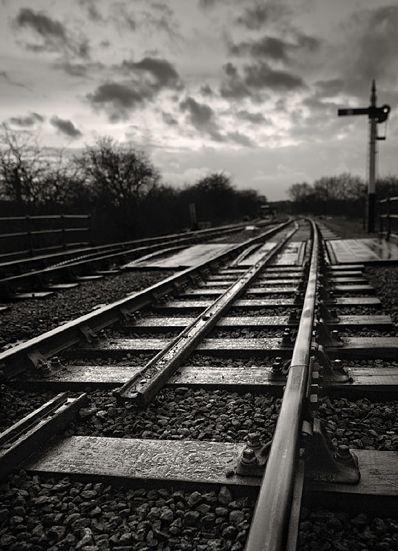 Embsay Railway Track in Black and White - Abstract & Still Life
