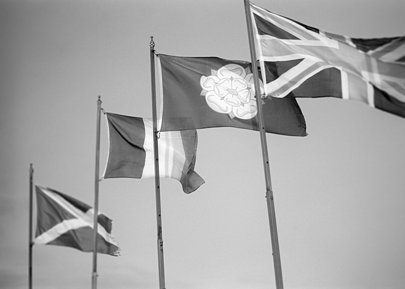 Flying the Flags Ilkley Moor in Black & White - Abstract & Still Life