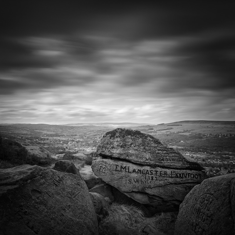 Old Rocks of Ilkley Moor #3 (square format) - Landscapes