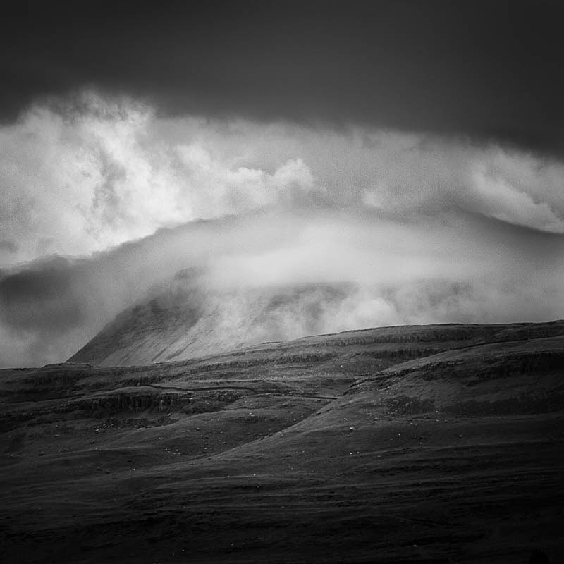 Storm over Inglebrough (square format) - Landscapes