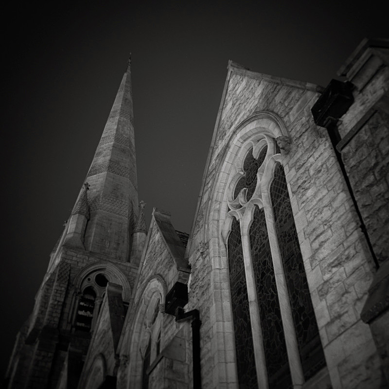 Black and White Photograph of Christchurch Church Ilkley