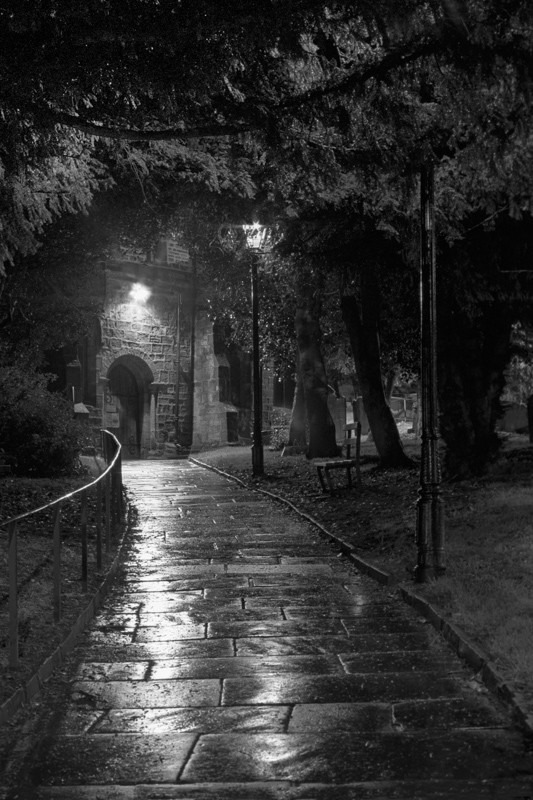 Otley Church main Path - Otley and Ilkley at Night