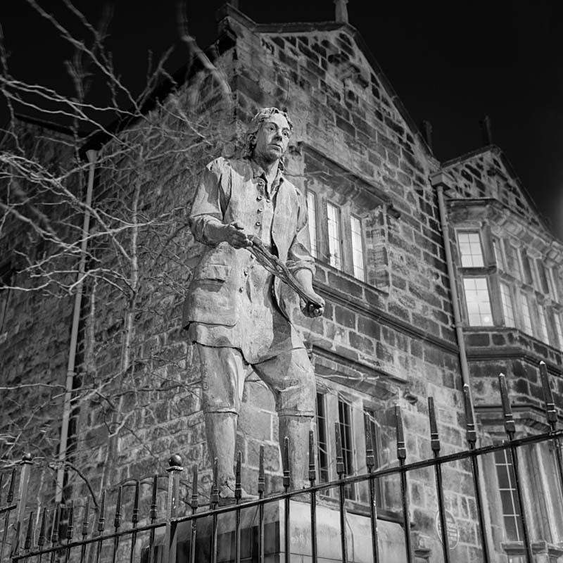 Thomas Chippendale, Otley (square format) - Otley and Ilkley at Night