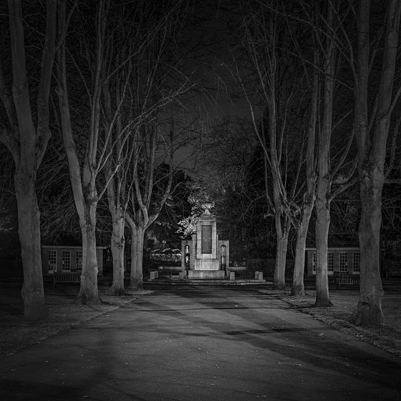 War Memorial to the Dead, Ilkley (square format) - Otley and Ilkley at Night