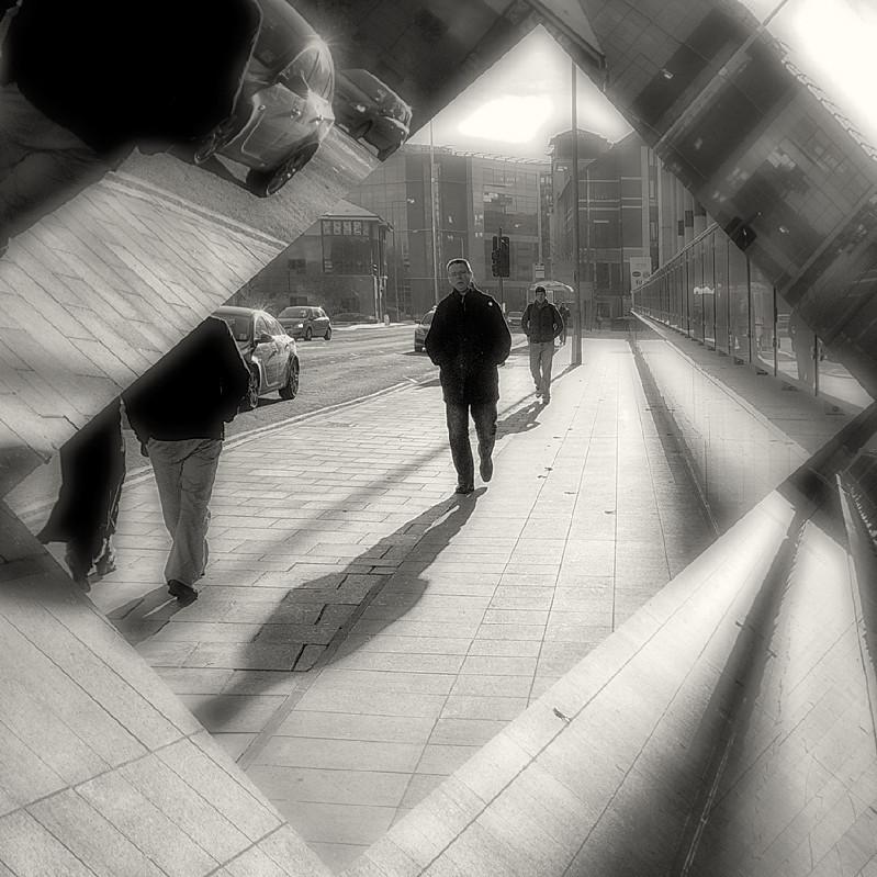 Black & White Street Scene Leeds - Abstract & Still Life