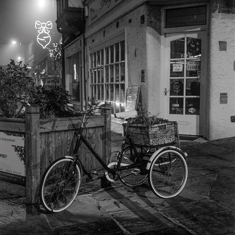 3 wheeler, Otley (square format) - Otley and Ilkley at Night
