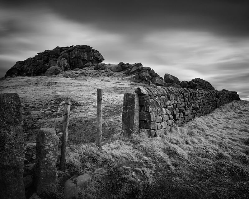 Almscliffe Crag wall