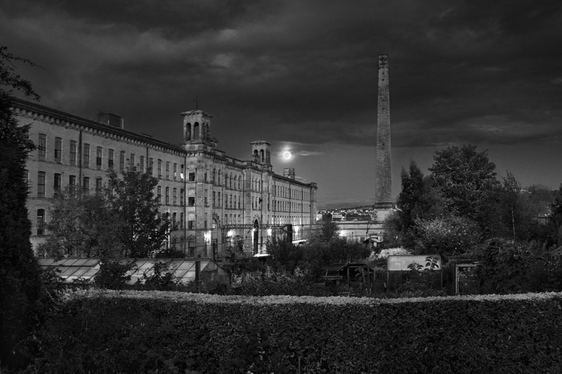 Salts Mill and Chimney 2 - Night Exposures
