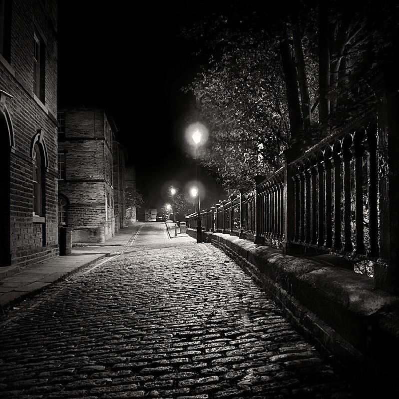 Salts Mill Village Street Photograph