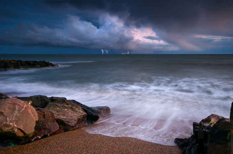 z1547 Evening Storm, Steephill Cove - Ventnor to St Catherine's inc Bonchurch & Whitwell