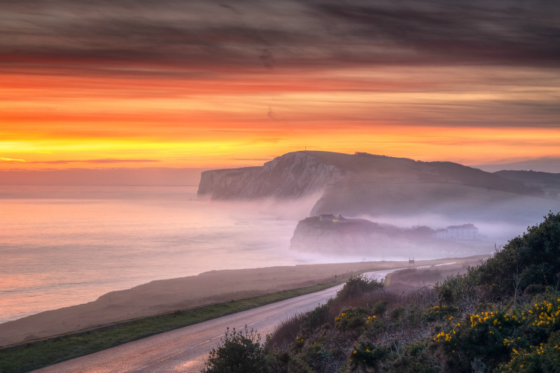 z3020 Evening Mist over Freshwater Bay - Freshwater Bay to Colwell Bay