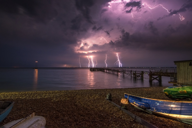 z2756 Midnight Storm from Totland Bay - The Lightning Gallery