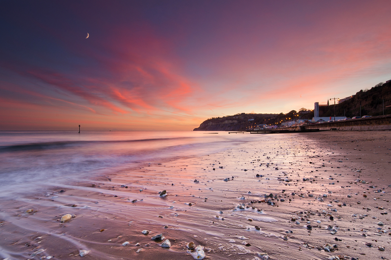 z2152 Dusk, Shanklin Beach - Sandown, Shanklin, Luccombe and Wroxall