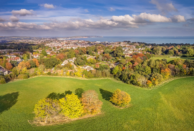 z3166 Autumnal View over Shanklin - Sandown, Shanklin, Luccombe and Wroxall