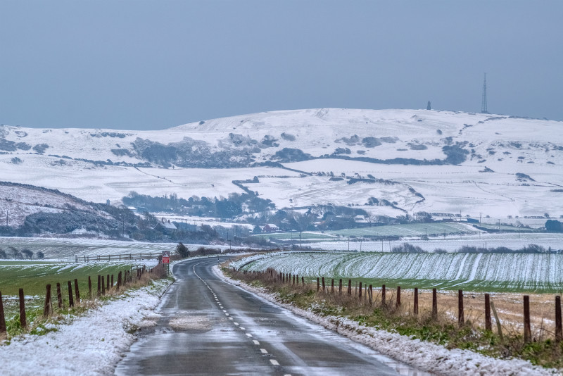 z3178 Snow covered St Catherines Down - Latest Photos