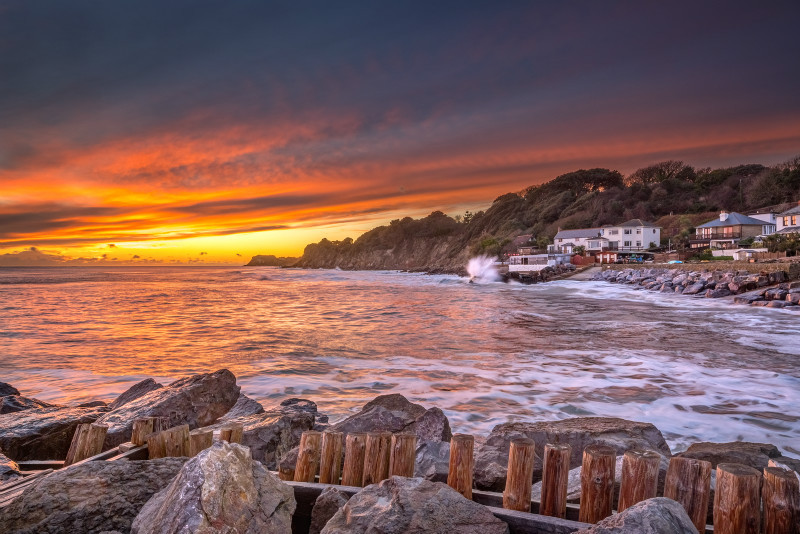 z3143 Warm Sunset on a Cold Day Steephill Cove - Latest Photos