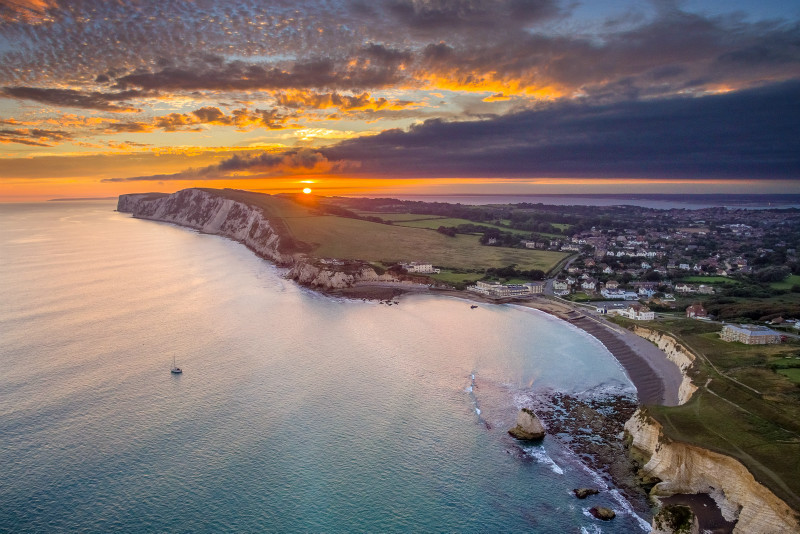 z2953 View from above Freshwater Bay at Sunset - Freshwater Bay to Colwell Bay