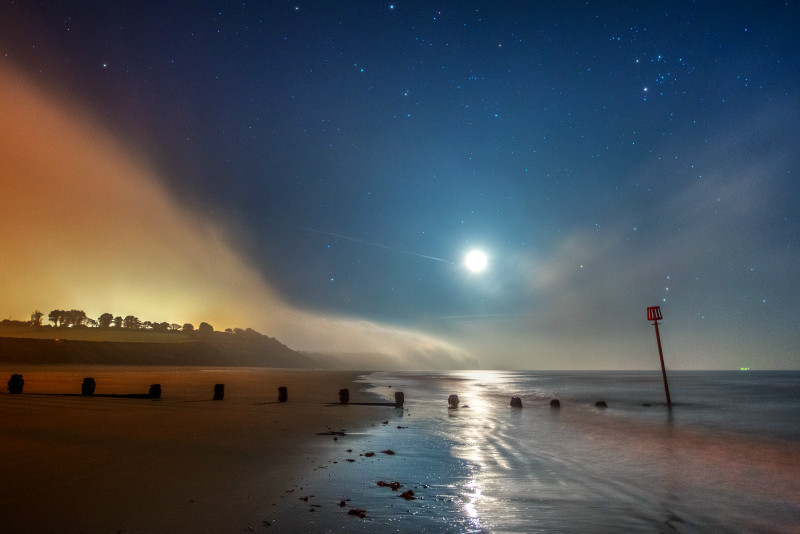 z2837 Midnight Mist by Moonlight, Sandown Bay - Sandown, Shanklin, Luccombe and Wroxall