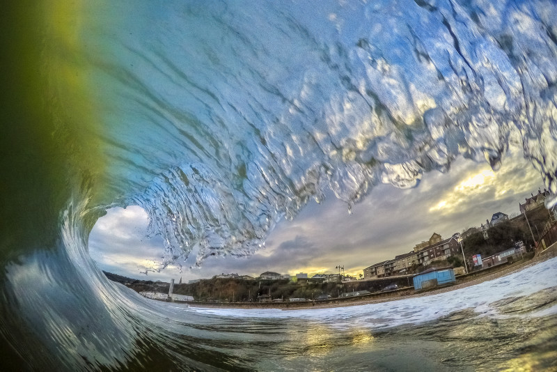 z2902 Evening Surf, Shanklin Beach - Sandown, Shanklin, Luccombe and Wroxall