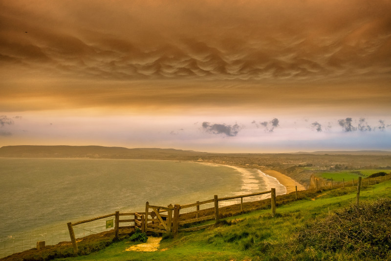 z3125 Supernatural Skies over Sandown Bay - Sandown, Shanklin, Luccombe and Wroxall