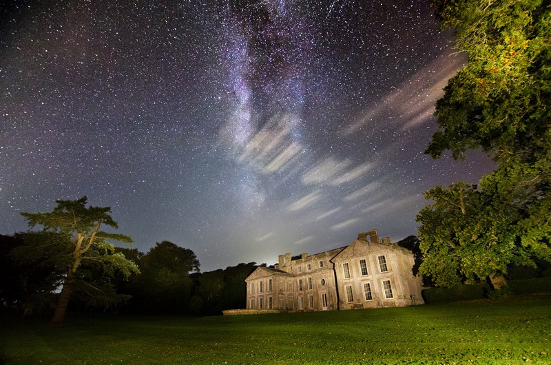 z2278 The Milky Way over Appuldurcombe House - Sandown, Shanklin, Luccombe and Wroxall