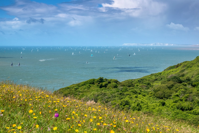 z2928 Round the Island Race from Blackgang - Blackgang to Compton inc West Wight