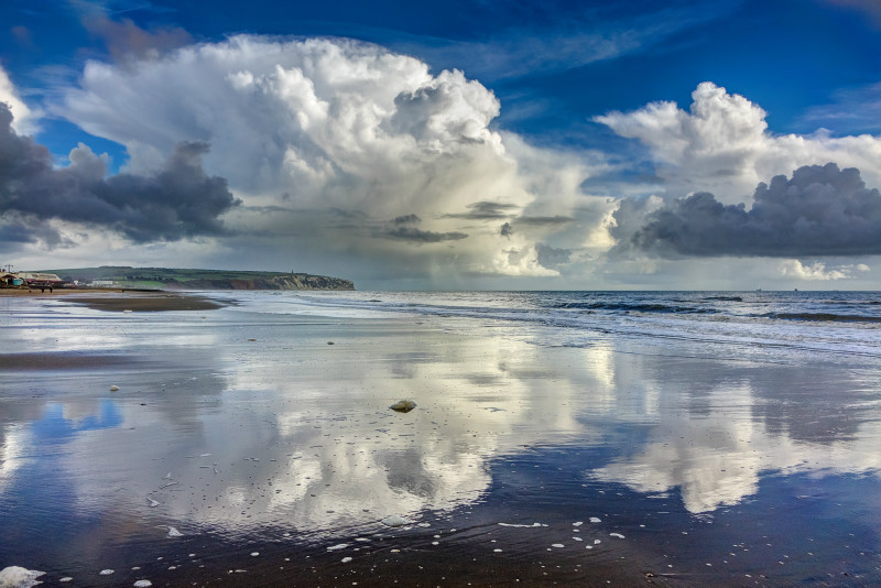 z2851 Stormy Reflections, Sandown Bay - Sandown, Shanklin, Luccombe and Wroxall