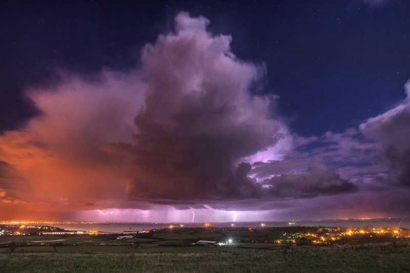 z2548 Distant Storm from Culver Down - The Lightning Gallery