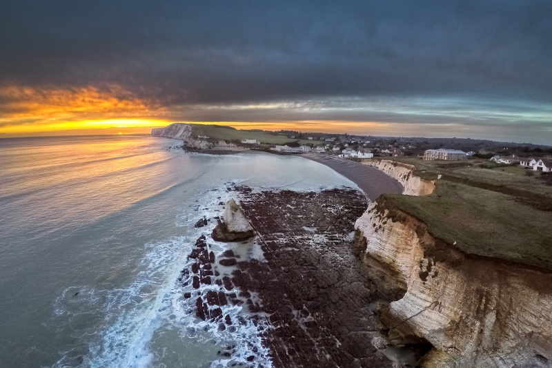 z2646 Aerial Sunset over Freshwater Bay - Freshwater Bay to Colwell Bay