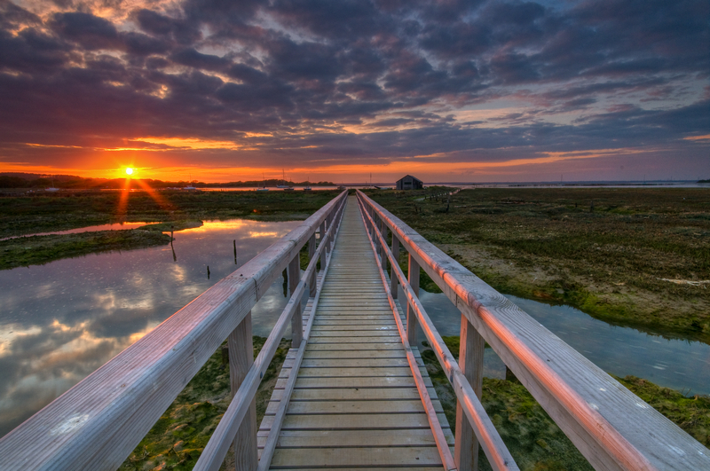 z1838 Wooden Walkway over Newtown Creek - Yarmouth to West Cowes
